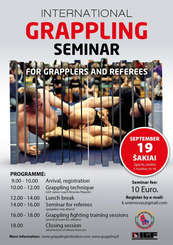 International Grappling Seminar For Grapplers and Referees