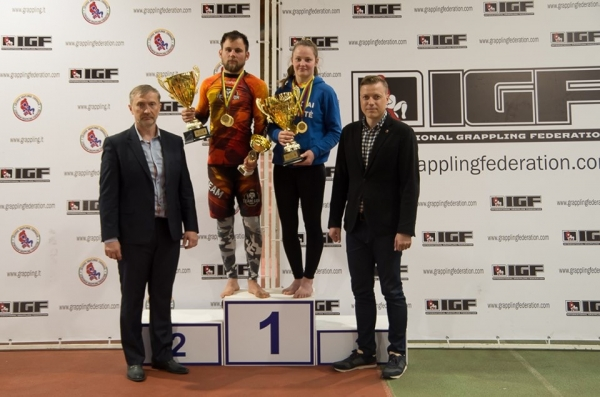 The debut of the grappling tournament in Panevėžys was marked by A.Vasiliauskaitė's record